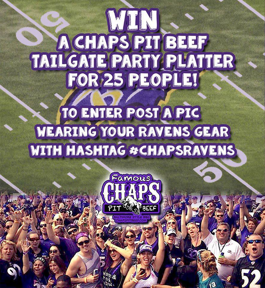 Win a Chaps Pit Beef Tailgate Party Platter