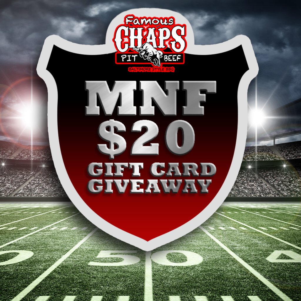 Chaps Pit Beef Monday Night Football Gift Card Giveaway Photo